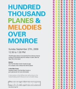 100000 Planes & Melodies over Monroe